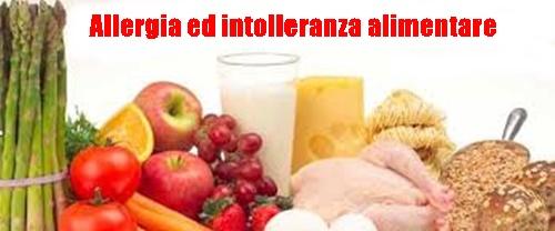Allergia ed intolleranza alimentare