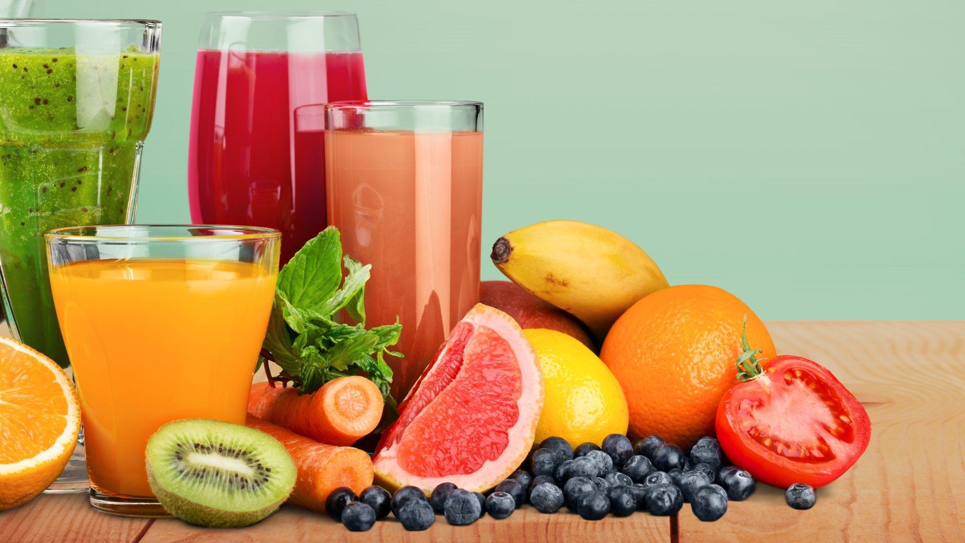 estratto o succo di verdura e frutta