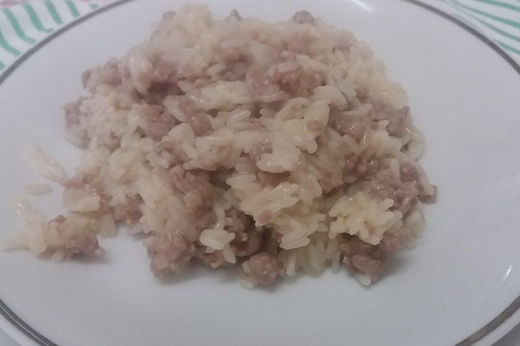 il risotto alla pasta di salame
